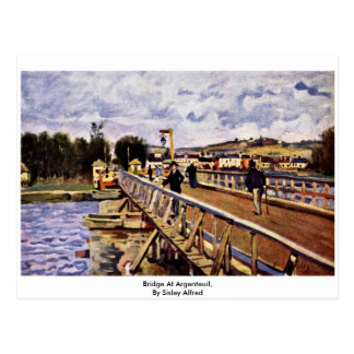 Bridge At Argenteuil,  By Sisley Alfred Post Card