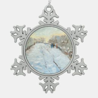 Bridge at Argenteuil Snowflake Pewter Christmas Ornament