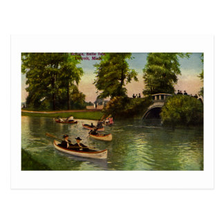 Bridge at Belle Isle, Detroit, Michigan Vintage Postcard