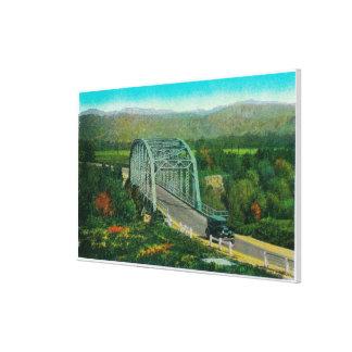 Bridge at Castaic Creek Near Saugus Canvas Print