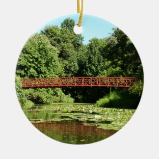 Bridge at Centennial Lake Ellicott City Maryland Ceramic Ornament