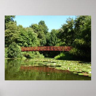 Bridge at Centennial Lake Ellicott City Maryland Poster
