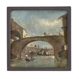 Bridge at Dolo by Francesco Guardi Jewelry Box
