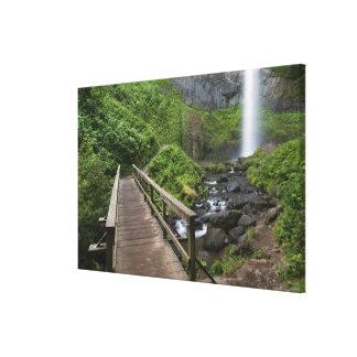 Bridge at Latourell Falls, Columbia River Gorge, Stretched Canvas Prints