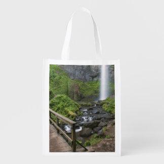 Bridge at Latourell Falls, Columbia River Gorge, Grocery Bags