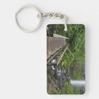 Bridge at Latourell Falls, Columbia River Gorge, Rectangular Acrylic Keychain