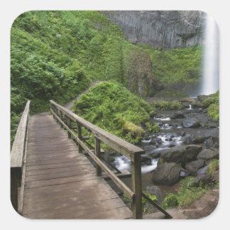 Bridge at Latourell Falls, Columbia River Gorge, Square Sticker