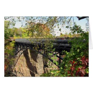 Bridge at Mary Ellen Kramer Great Falls Park, NJ Card