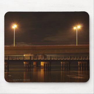 Bridge at Night Mousepad Mousepad