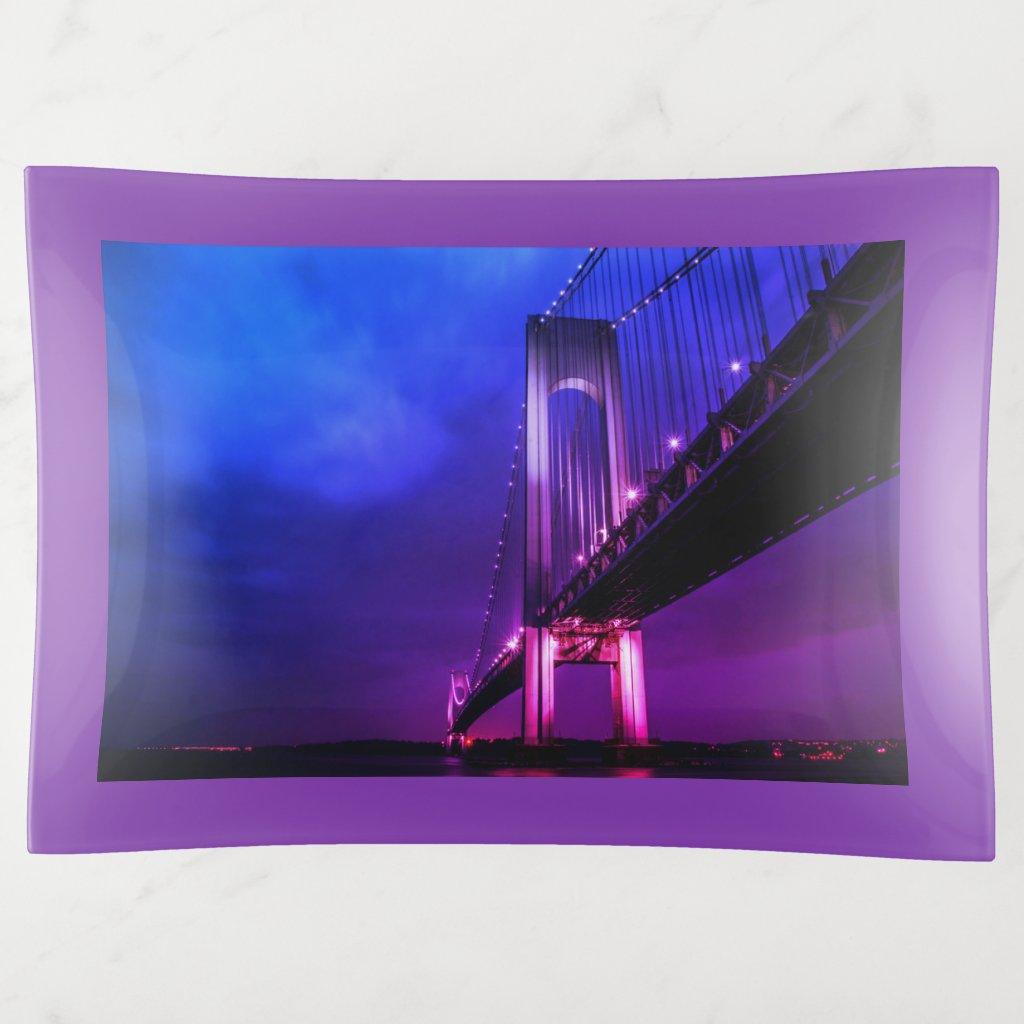 Bridge At Night Trinket Trays