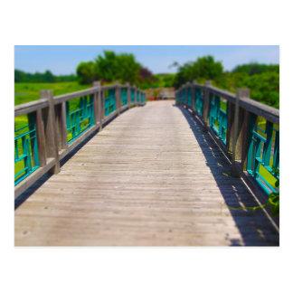 Bridge at Powell Gardens Kansas City Postcard