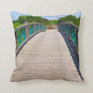 Bridge at Powell Gardens Kansas City Throw Pillow