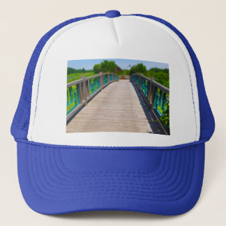 Bridge at Powell Gardens Kansas City Trucker Hat