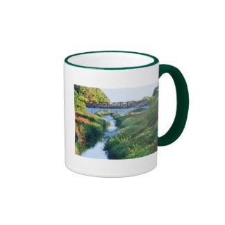 Bridge at Shoreline Ringer Coffee Mug