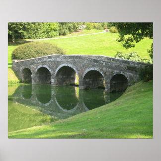 Bridge at Stourhead Poster