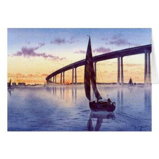 BRIDGE AT SUNSET-T CARD