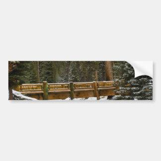 Bridge at Wuksachi Bumper Sticker
