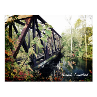 Bridge at Yantic Falls Norwich, Connecticut Postcard