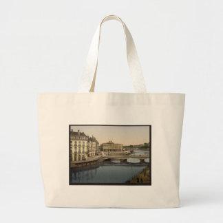 Bridge, Bayonne, Pyrenees, France Large Tote Bag