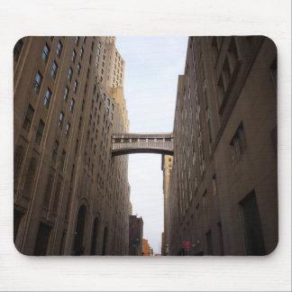 Bridge Between Two Skyscrapers, New York City Mouse Pad