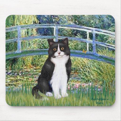 Bridge - Black and White cat Mouse Pad