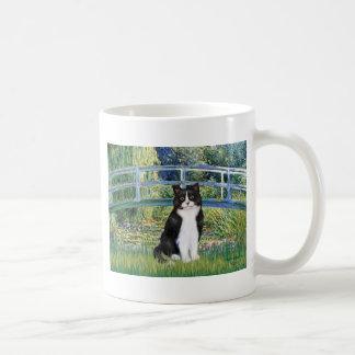 Bridge - Black and White cat Mugs