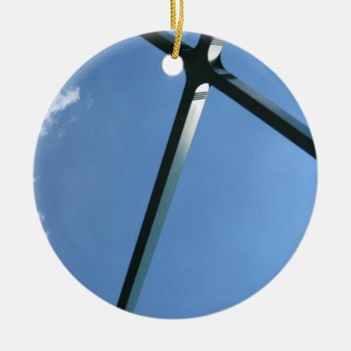 Bridge Blue Sky Christmas Tree Ornament