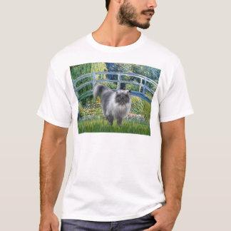 Bridge - Blue Smoke Persian cat T-Shirt