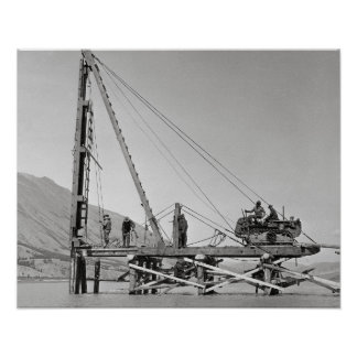 Bridge Builders in Alaska, 1942 Poster