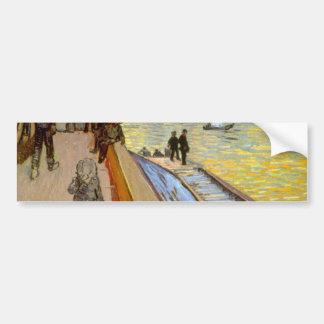Bridge by Vincent van Gogh Car Bumper Sticker