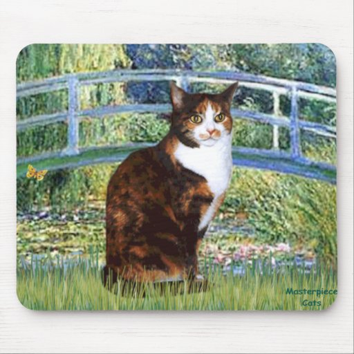Bridge - Calico short haired Mouse Pad