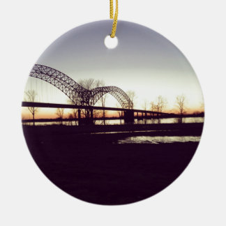 bridge ceramic ornament
