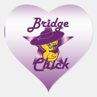 Bridge Chick #9 Heart Sticker