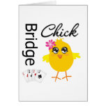 Bridge Chick Greeting Card