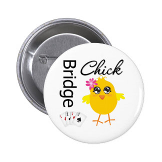 Bridge Chick Pinback Button
