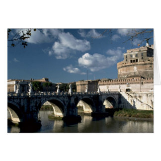 Bridge crossing the Tiber to Castel Sant Angelo R Greeting Cards