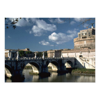 Bridge crossing the Tiber to Castel Sant Angelo R Custom Invites