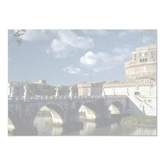 Bridge crossing the Tiber to Castel Sant'Angelo, R 5x7 Paper Invitation Card