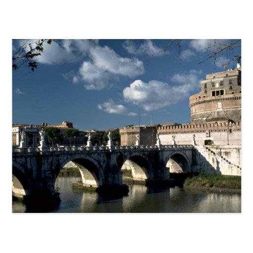 Bridge crossing the Tiber to Castel Sant'Angelo, R Postcard