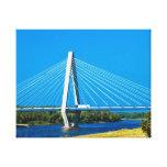 bridge designs stretched canvas print