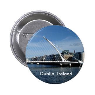 Bridge Dublin Ireland River Badge Name Tag Pinback Button