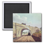 Bridge,from 'Liverpool and Manchester Railway' 2 Inch Square Magnet