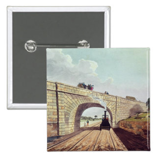 Bridge,from 'Liverpool and Manchester Railway' 2 Inch Square Button