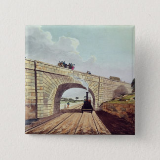 Bridge,from 'Liverpool and Manchester Railway' Pinback Button