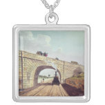 Bridge,from 'Liverpool and Manchester Railway' Square Pendant Necklace