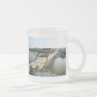Bridge Frosted Glass Coffee Mug