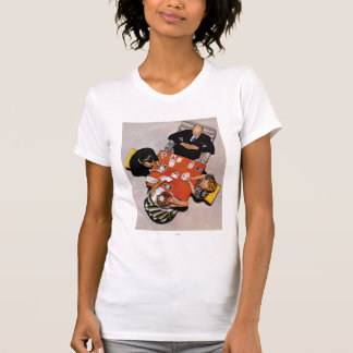 Bridge Game by Norman Rockwell T-Shirt