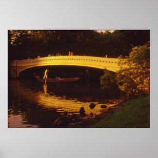 Bridge & Gondola Central Park Poster