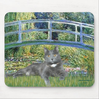 Bridge - Grey cat Mouse Pad