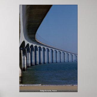 Bridge Ile de Re, France Poster